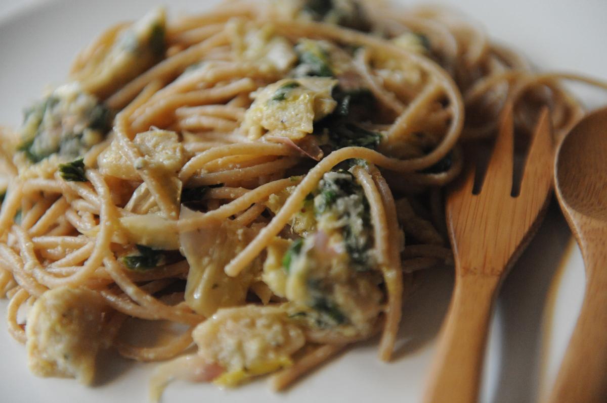 Спагети с артишок