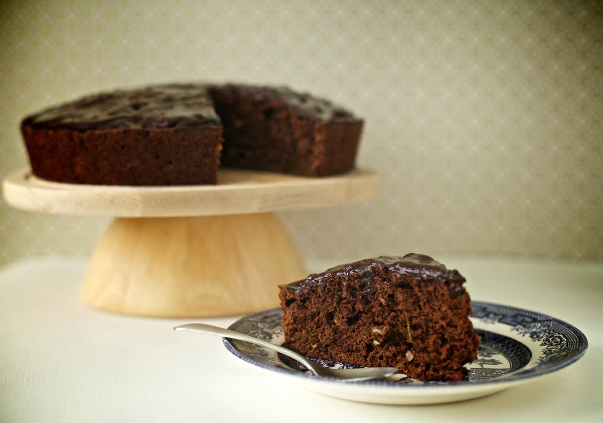 Кекс с шоколад и тиквички