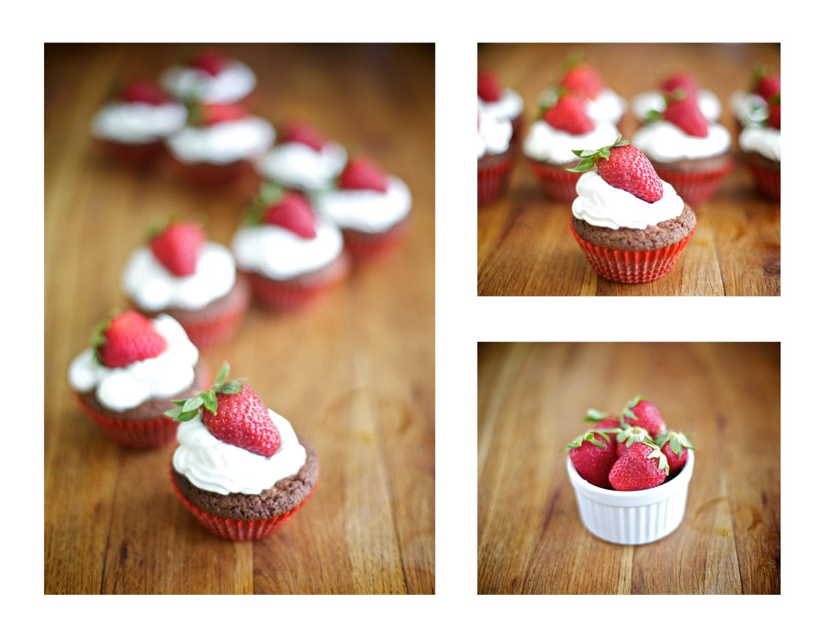 Мъфини с шоколад и ягоди