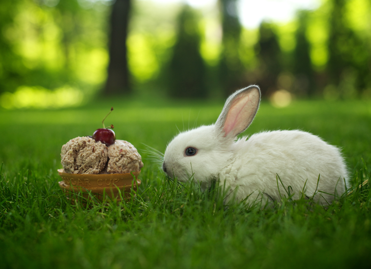 Сладолед с череши и бадеми