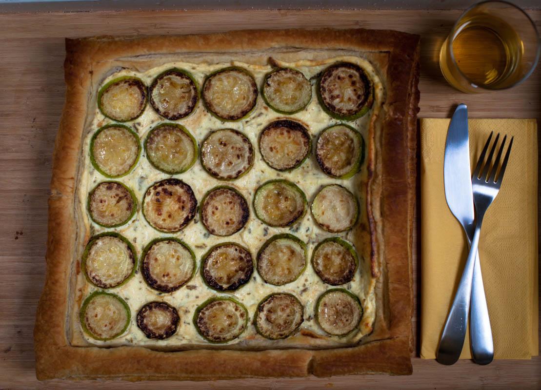 Тарта с тиквички и рикота