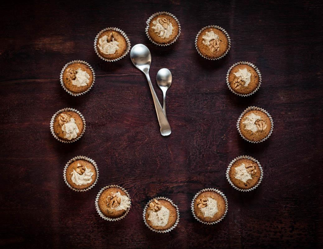 Мъфини с кафе и орехи